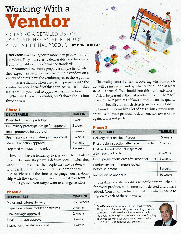 Vendor-Checklist